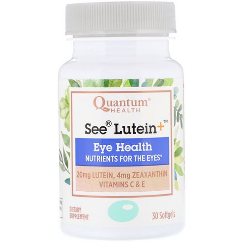 Quantum Health, See Lutein+, Eye Health, 30 Softgels Review