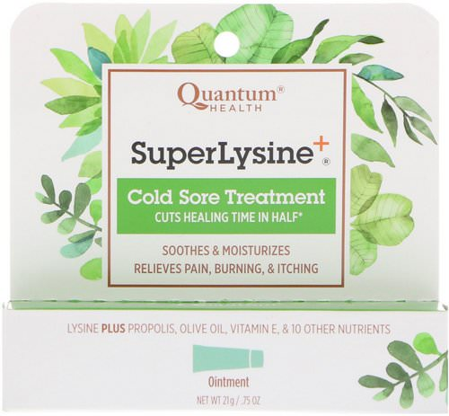 Quantum Health, Super Lysine+, Cold Sore Treatment, .75 oz (21 g) Review