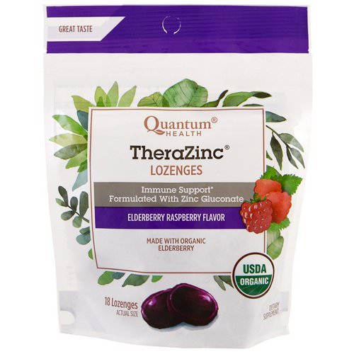 Quantum Health, TheraZinc, Lozenges, Elderberry Raspberry Flavor, 18 Lozenges Review