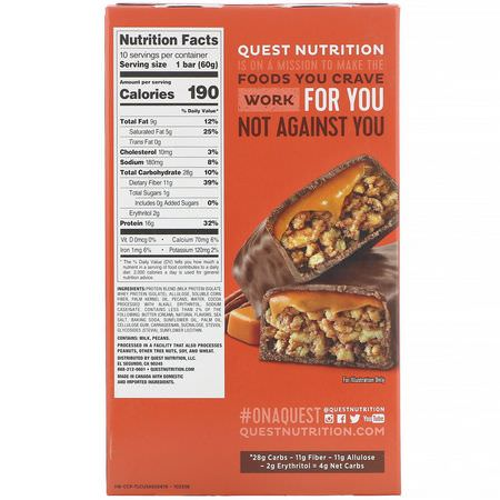 Quest Nutrition, Milk Protein Bars, Whey Protein Bars