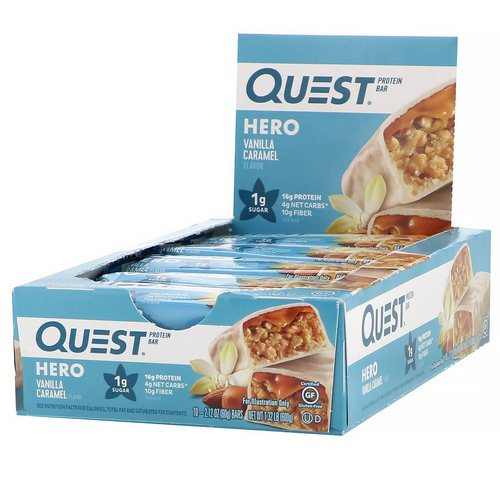 Quest Nutrition, Hero Protein Bar, Vanilla Caramel, 10 Bars, 2.12 oz (60 g) Each Review