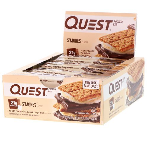 Quest Nutrition, Protein Bar, S'mores, 12 Bars, 2.12 (60 g) Each Review
