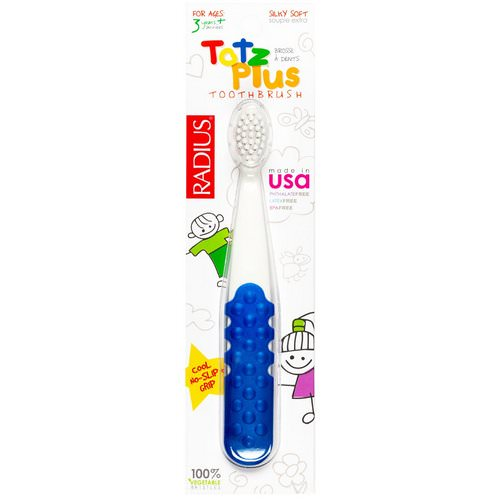 RADIUS, Totz Plus Toothbrush, 3+ Years, White/Blue, 1 Toothbrush Review