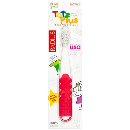 RADIUS, Totz Plus Toothbrush, 3+ Years, White/Pink Coral, 1 Toothbrush Review
