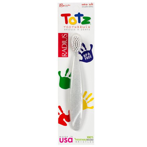 RADIUS, Totz Toothbrush, 18 + Months, Extra Soft, Clear Sparkle Review