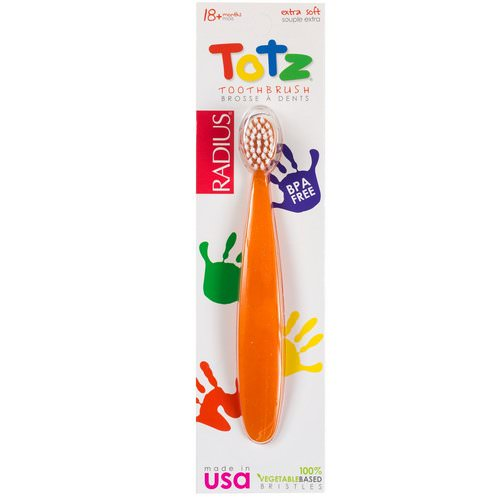 RADIUS, Totz Toothbrush, 18 + Months, Extra Soft, Orange Sparkle Review