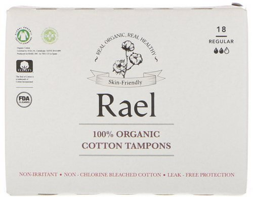 Rael, 100% Organic Cotton Tampons, Regular, 18 Tampons Review