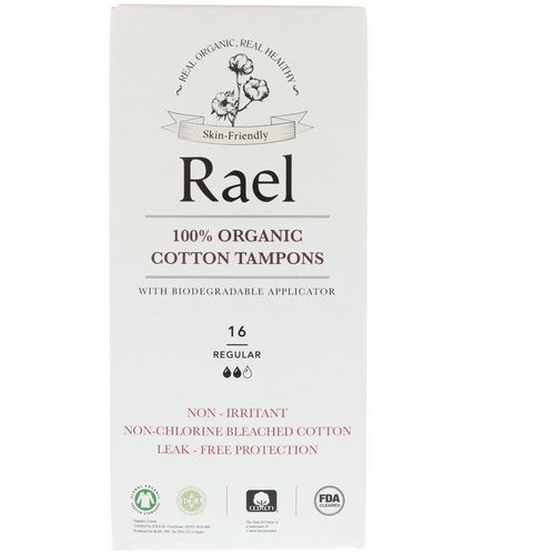 Rael, 100% Organic Cotton Tampons With Biodegradable Applicator, Regular, 16 Tampons Review