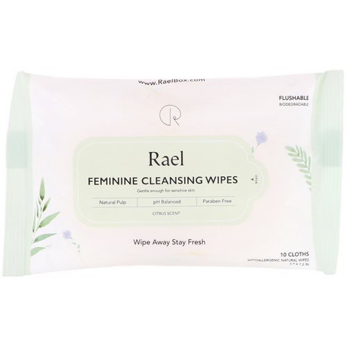 Rael, Feminine Cleansing Wipes, Citrus Scent, 10 Wipes Review