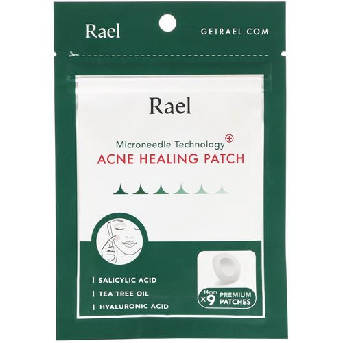 Rael, Microneedle Technology, Acne Healing Patch, 9 Patches Review
