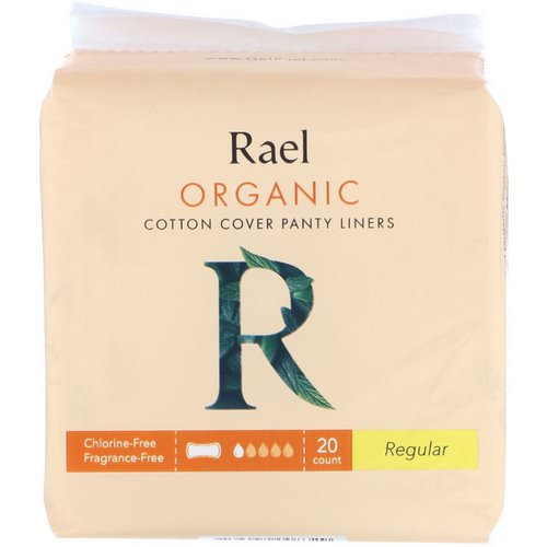 Rael, Organic Cotton Cover Panty Liners, Regular, 20 Count Review