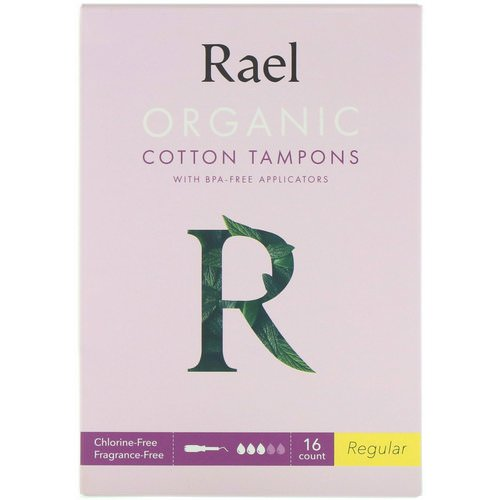 Rael, Organic Cotton Tampons With BPA-Free Applicators, Regular, 16 Count Review