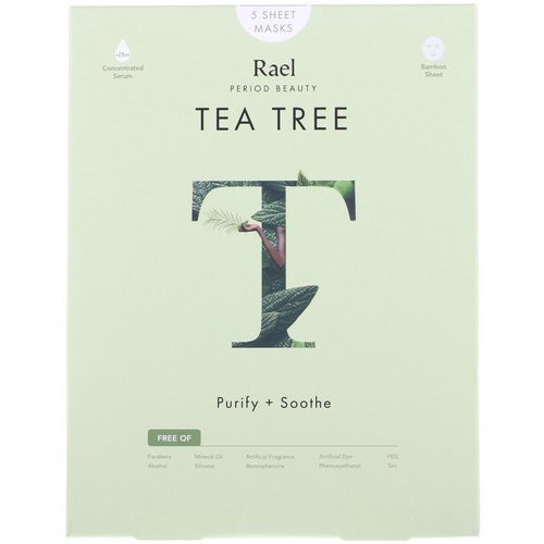 Rael, Tea Tree Sheet Masks, 5 Sheets Review