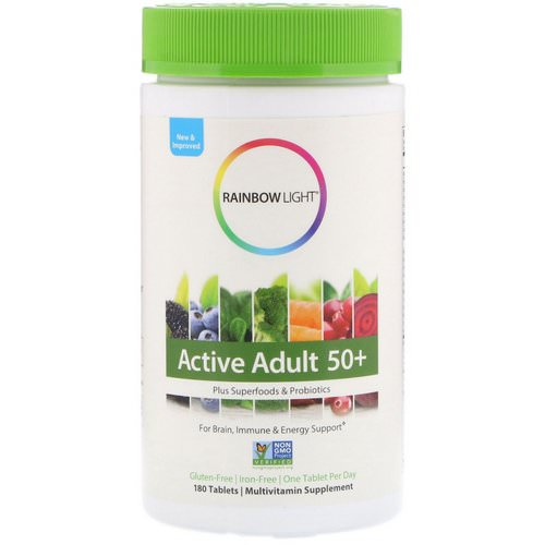 Rainbow Light, Active Adult 50+, 180 Tablets Review