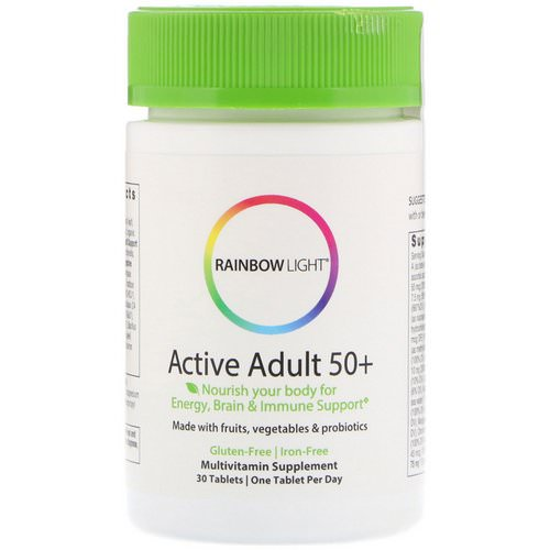 Rainbow Light, Active Adult 50+, 30 Tablets Review