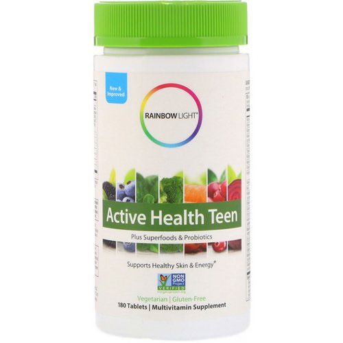 Rainbow Light, Active Health Teen, 180 Tablets Review