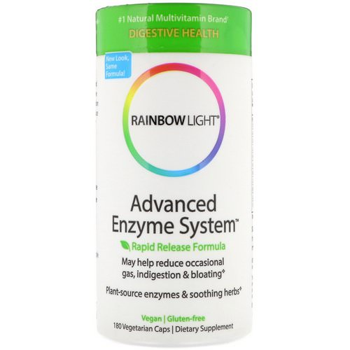 Rainbow Light, Advanced Enzyme System, Rapid Release Formula, 180 Vegetarian Caps Review