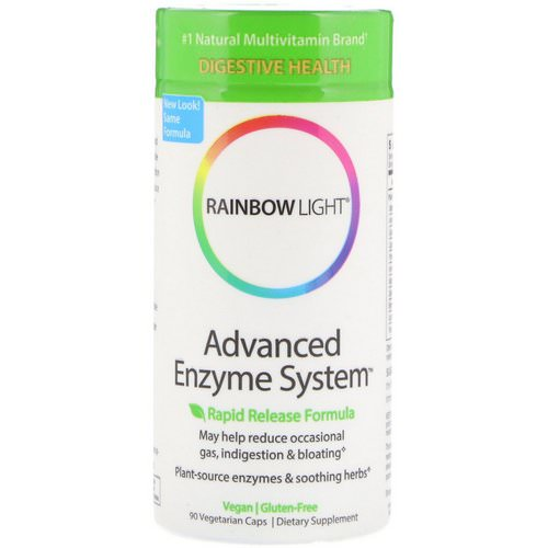 Rainbow Light, Advanced Enzyme System, Rapid Release Formula, 90 Vegetarian Caps Review