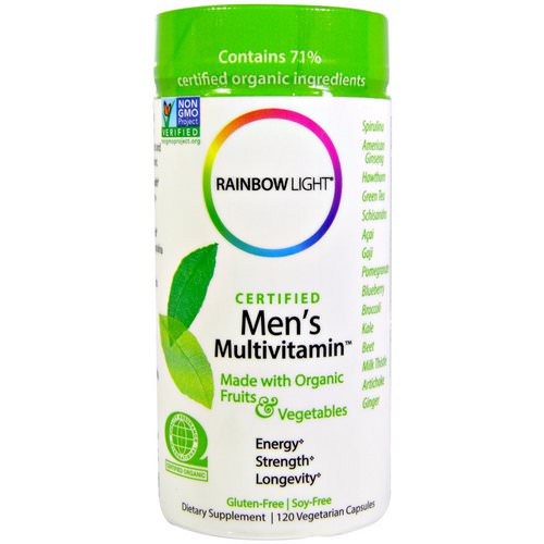 Rainbow Light, Certified Men's Multivitamin, 120 Vegetarian Capsules Review