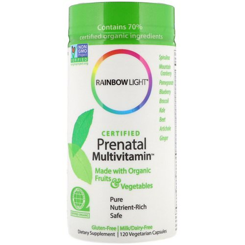 Rainbow Light, Certified Prenatal Multivitamin, 120 Vegetarian Capsules Review