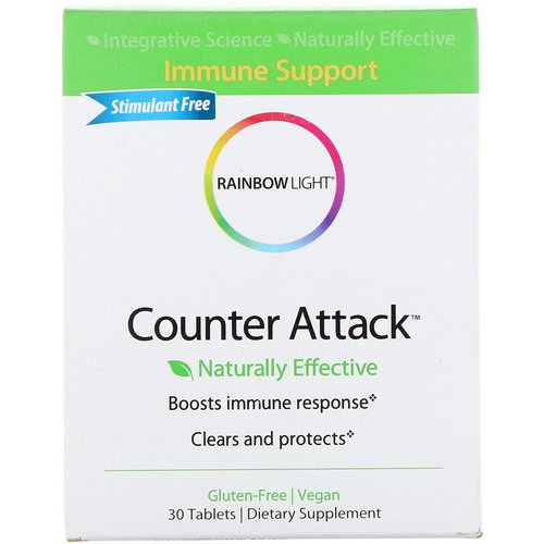 Rainbow Light, Counter Attack, Immune Support, 30 Tablets Review