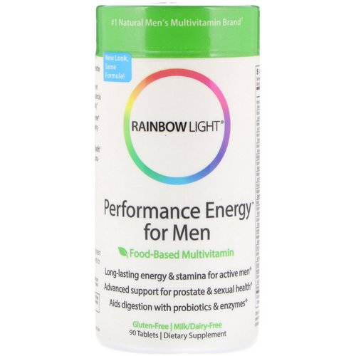 Rainbow Light, Performance Energy for Men, Food-Based Multivitamin, 90 Tablets Review