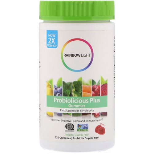 Rainbow Light, Probiolicious Plus Gummies, Berry, 120 Gummies Review