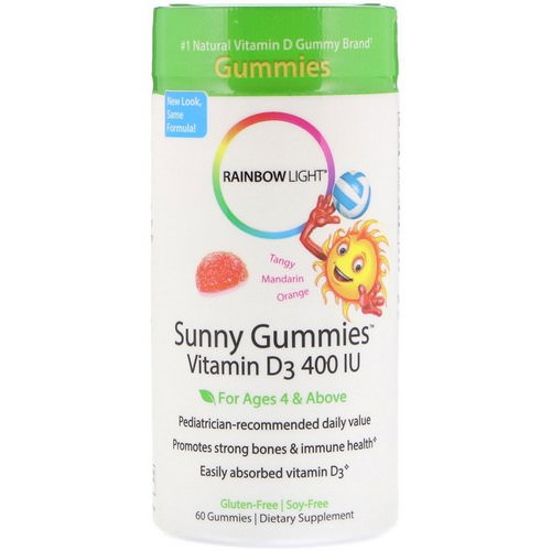 Rainbow Light, Sunny Gummies, Vitamin D3, Mandarin Orange, 400 IU, 60 Gummies Review