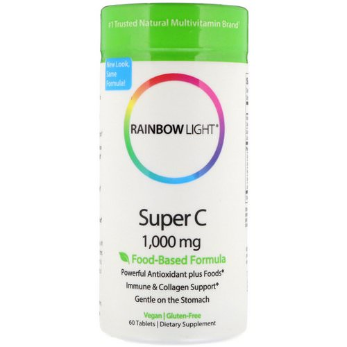 Rainbow Light, Super C, 1,000 mg, 60 Tablets Review
