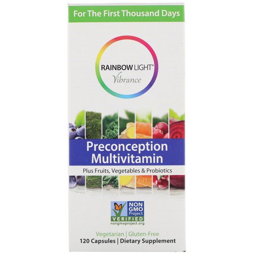 Rainbow Light, Vibrance, Preconception Multivitamin, 120 Capsules Review