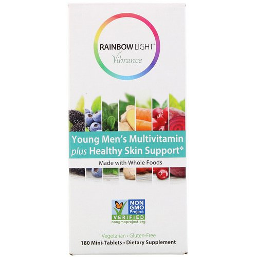 Rainbow Light, Vibrance, Young Men's Multivitamin plus Healthy Skin Support, 180 Mini-Tablets Review