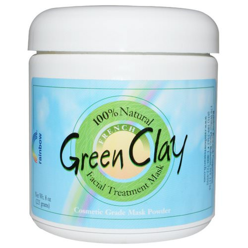 Rainbow Research, French Green Clay, Facial Treatment Mask Powder, 8 oz (225 g) Review