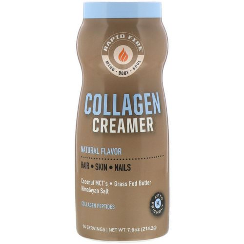 RAPIDFIRE, Collagen Creamer, Natural Flavor, 7.6 oz (214.2 g) Review