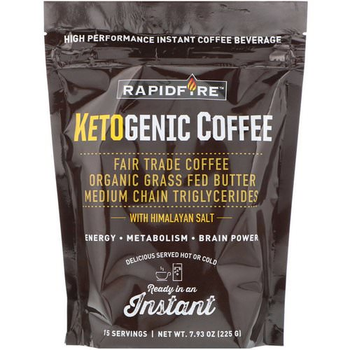 RAPIDFIRE, Ketogenic Coffee, 7.93 oz (225 g) Review