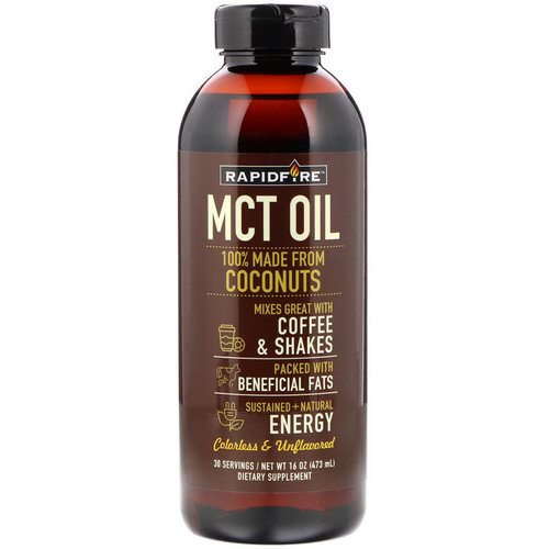 RAPIDFIRE, MCT Oil, Unflavored, 16 oz (473 ml) Review