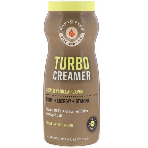 RAPIDFIRE, Turbo Creamer, French Vanilla Flavor, 8.8 oz (250 g) Review