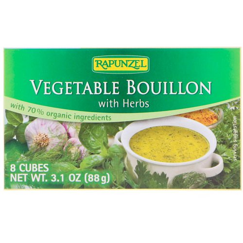 Rapunzel, Vegan Vegetable Bouillon with Herbs, 8 Cubes 3.1 oz (88 g) Review