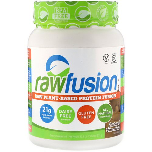 RawFusion, Raw Plant-Based Protein Fusion, Natural Chocolate, 2.05 lbs (931 g) Review