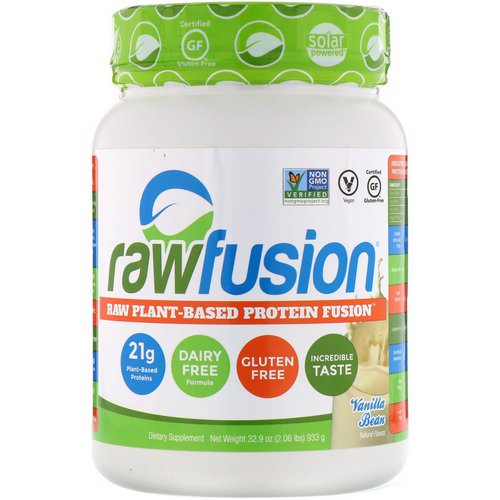 RawFusion, Raw Plant-Based Protein Fusion, Vanilla Bean, 2.06 lbs (933 g) Review