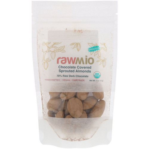 Rawmio, Chocolate Covered Sprouted Almonds, 2 oz (57 g) Review