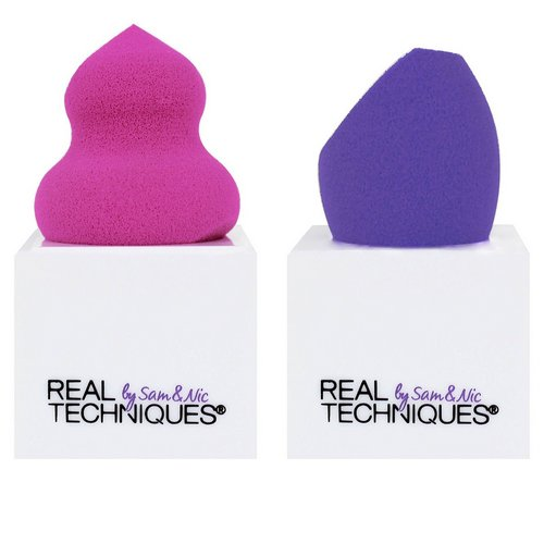 Real Techniques by Samantha Chapman, Miracle Sponges with Stand, 2 Sponges + 2 Stands Review