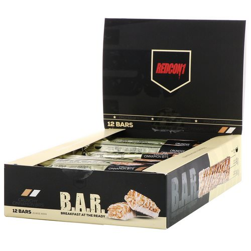 Redcon1, B.A.R. Breakfast at the Ready, Crunchy Cinnamon Bits, 12 Bars 1.76 oz ( 50 g) Review