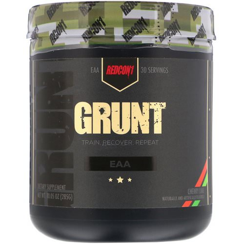 Redcon1, Grunt, EAA, Cherry Lime, 10.05 oz (285 g) Review