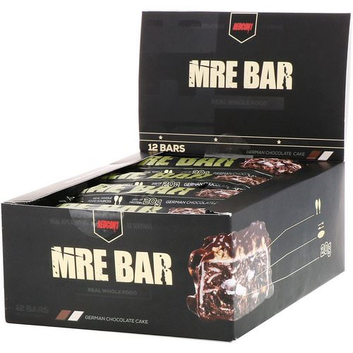 Redcon1, MRE Bar, German Chocolate Cake, 12 Bars, 2.36 oz (67 g) Each Review