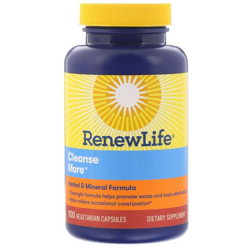 Renew Life, CleanseMore, 100 Vegetarian Capsules Review