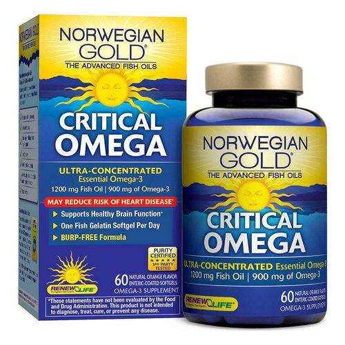 Renew Life, Critical Omega, Ultra-Concentrated, Natural Orange Flavor, 60 Enteric-Coated Softgels Review