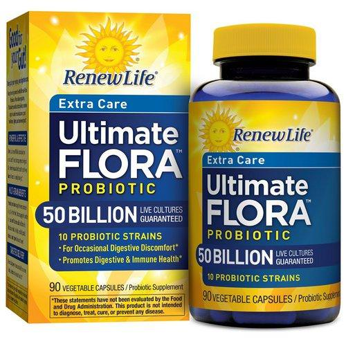 Renew Life, Extra Care, Ultimate Flora Probiotic, 50 Billion, 90 Vegetable Capsules Review