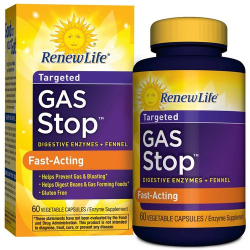 Renew Life, Gas Stop, 60 Veggie Caps Review