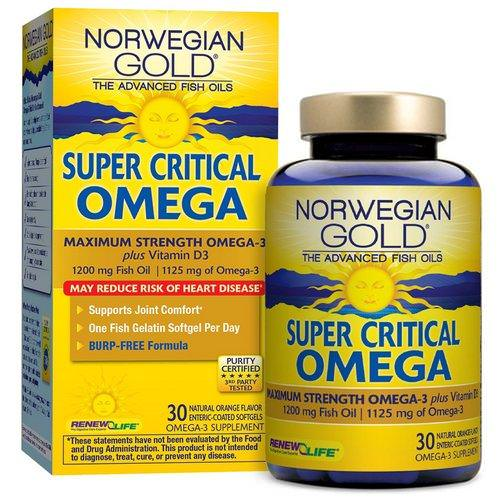 Renew Life, Super Critical Omega, Orange Flavor, 30 Enteric-Coated Softgels Review