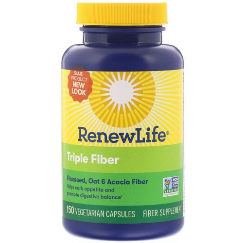 Renew Life, Triple Fiber, 150 Vegetarian Capsules Review